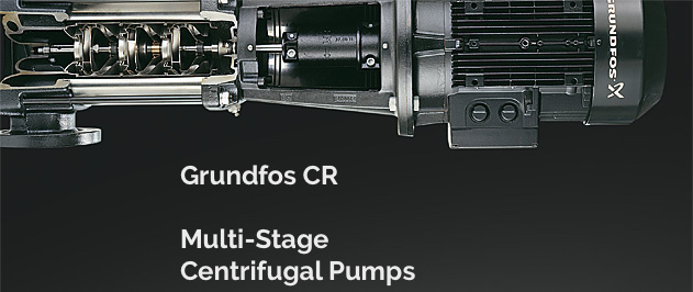 Grundfos CR, CRE, CRI, CRIE, CRN and CRNE are multi-purpose multi-stage centrifugal pumps for industrial applications, water transfer and water boosting.
