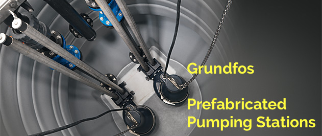 Grundfos prefabricated pump stations, a wide range of modular pumping stations, complete with all necessary pumps, piping, valves and controls