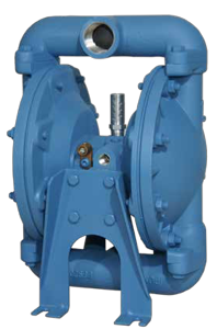 Air operated double diaphragm pump, abreviated AODD pump.