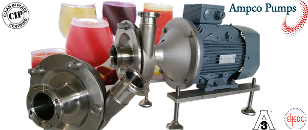 Ampco LME Pumps - Centrifugal, fully CIP-able, EHEDG Certified, to meet the needs of each application in food and beverages.