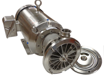 Ampco SP liquid ring pumps, self-priming for sanitary and fluid applications with high gas concentration.
