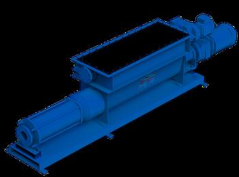 Pompes Wangen à vis excentrée avec vis d'alimentation pour plus de performance, particulièrement bien adaptée aux applications dans le biogaz.