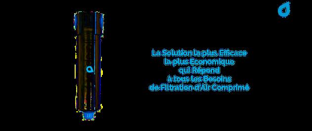 Dropout est le filtre à air comprimé qui élimine le risque de contamination par les gouttelettes d'eau et les particules de poussières et supprime tous les problèmes de givre au point de dépression de l'air.