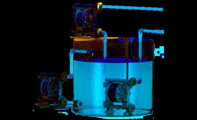 versatile setup of a aodd pump.