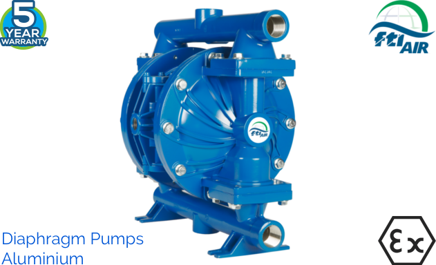 AODD or Air Operated Double Diaphragm Pumps, metallic