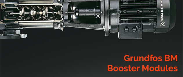 Grundfos BM Pressure booster for industrial applications and water desalination.
