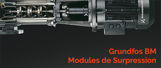 Grundfos BM modules de surpresssion pour applications industrielles et désalement d'eau de mer.
