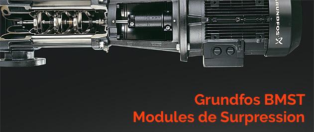 La gamme Grundfos BMST de modules de surpression est utilisée dans les systèmes d'osmose inversée pour le désalement de l'eau de mer et l' ultrafiltration.