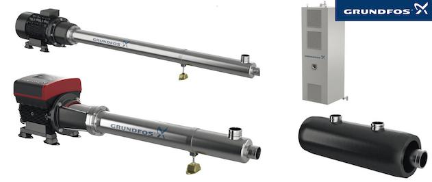 La gamme Grundfos BMSX de modules de surpression est utilisée dans les systèmes d'osmose inversée pour le désalement de l'eau de mer et l' ultrafiltration - Courbes de performance.