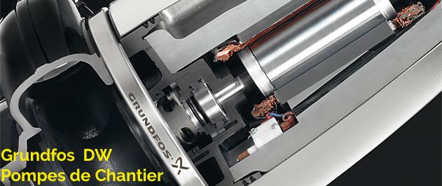 Grundfos DW — Pompes de chantier avec manteau en polypropylène pour une meilleure protection