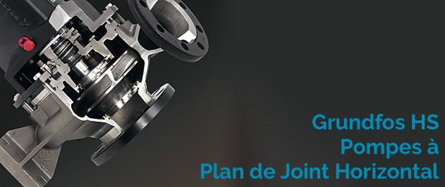 Grundfos HS sont des pompes à plan de joint horizontal à double aspiration, qui garantissent un entretien simplifié et évitent les démontages des tuyauteries lors des entretiens
