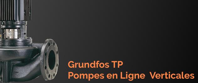 Grundfos TP et Grundfos TPE sont des pompes verticale en line et à volute utilisées dans les grands ensemble immobiliés pour les installations de chauffage et d'air conditionné et applications industrielles.