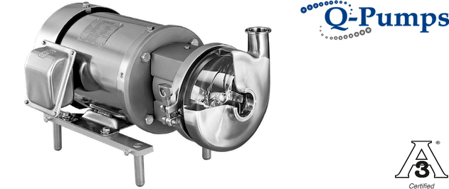 Q-Pumps QC Pumps and its QC+ Pump option are centrifugal Pumps, 3A certified and simple to maintain. The QC/QC+ Series pumps are capable of flow rates as high as 60 m3/hr. Originally designed for use in dairies, the QC Series is experiencing extraordinary growth in several new industry applications ...