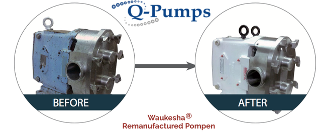 Waukesha remanufactured pumps. With our partner Q-Pumps, we remanufactured completely the Waukesha pumps to make them like new ones.