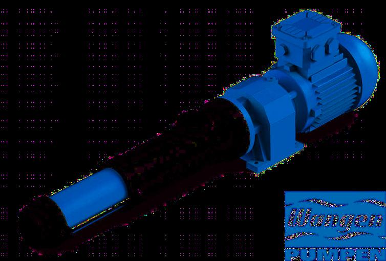 Wangen excentrische wormpompen speciaal voor polymeerdosering in waterzuiveringsinstallaties.