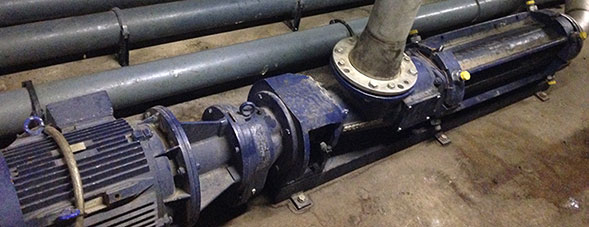 Pompe à vis excentrée Seepex dans la biométhanisation.