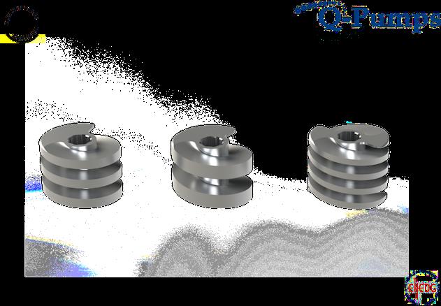 Les pompes Q-Pumps QTS sont des pompes à double vis. 100% sanitaire.