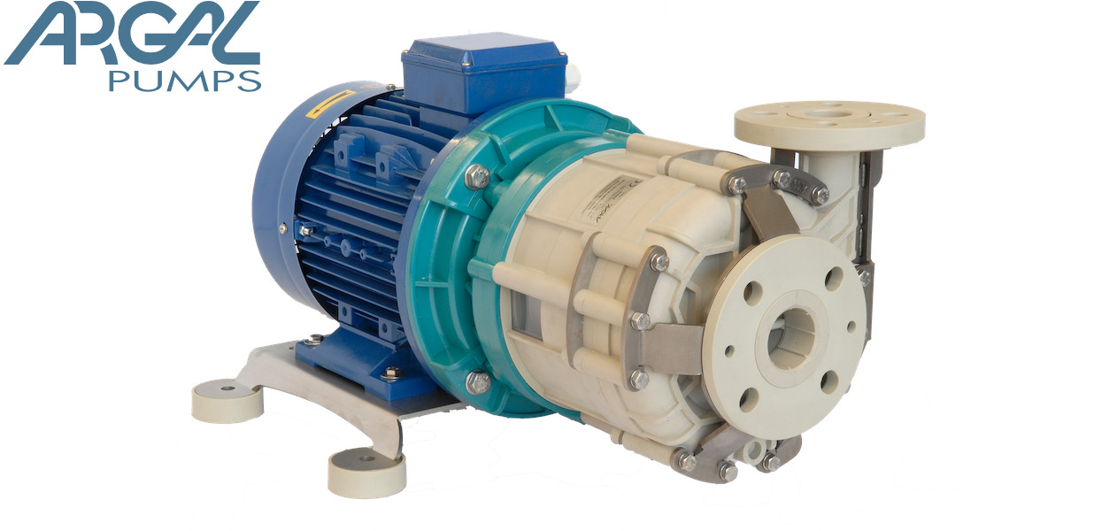 Argal TMR - Centrifugal plastic pump for corrosive fluid, magnetic drive to avoid any possibility of leakage.
