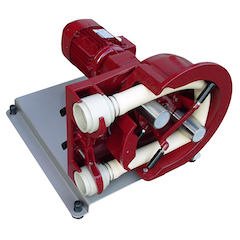 Peristaltic pumps for fluid transfer
